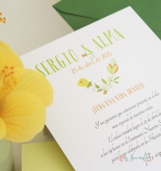"Invitación""Simply Flowers"""