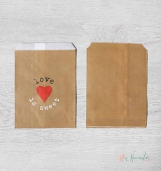 "BOLSAS KRAFT ""LOVE IS SWEET"" - PACK 10 BOLSAS"