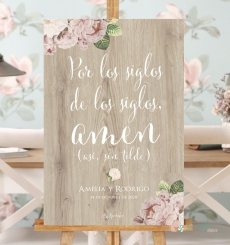 "Cartel ""Amen, sin tilde"""